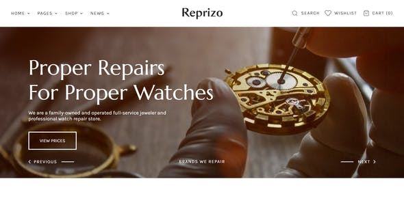 Reprizo - Jewelry & Watch Store Shopify Theme