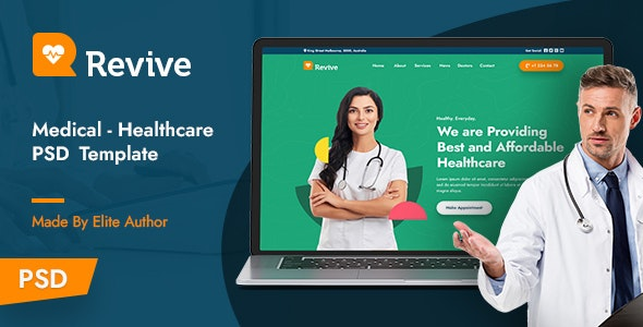 Revive - Medical PSD Template - Health & Beauty Retail