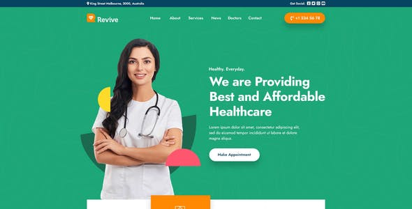 Revive - Medical PSD Template