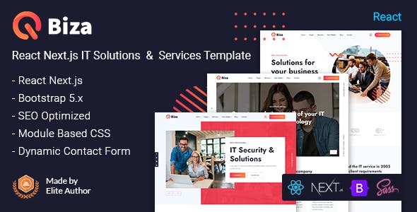 Biza - React Next IT Solutions & Services Template