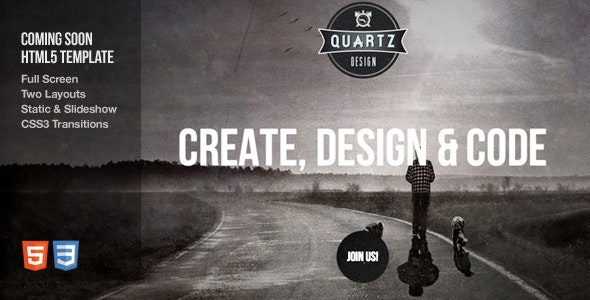 Quartz - Coming Soon Html5 Template - Under Construction Specialty Pages