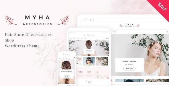 Myha - Accessories & Hair Shop WordPress theme - WooCommerce eCommerce
