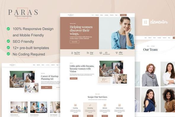 Paras -  Business Coach for Women Elementor Template Kit - Business & Services Elementor
