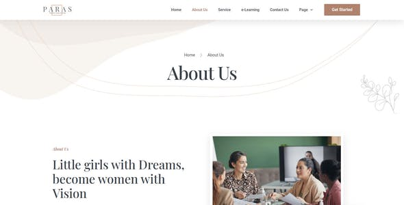 Paras -  Business Coach for Women Elementor Template Kit