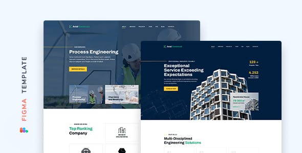 Axial – Construction Company Template for Figma