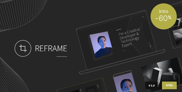 Reframe - Personal One Page Portfolio HTML Template - Virtual Business Card Personal