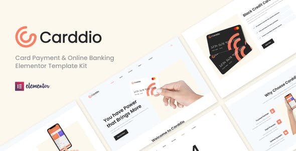 Carddio - Card Payment & Online Banking Elementor Template Kit