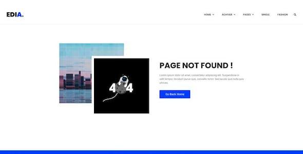 Edia - Blog & Magazine Elementor  Template Kit
