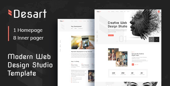 Desart - Creative Web Design Studio Figma UI Template - Creative Figma
