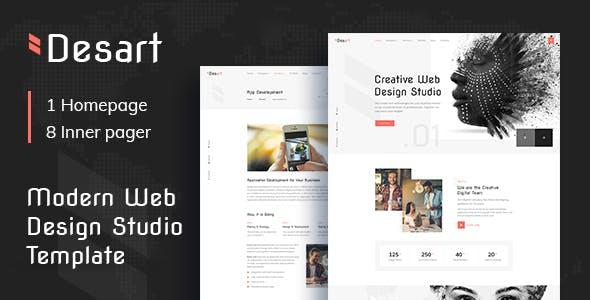 Desart - Creative Web Design Studio Figma UI Template