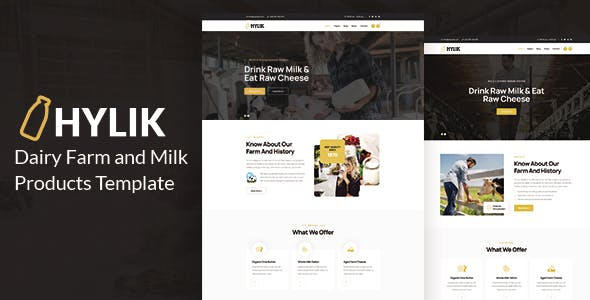 Hylik - Dairy Farm and Milk Products HTML5 Template