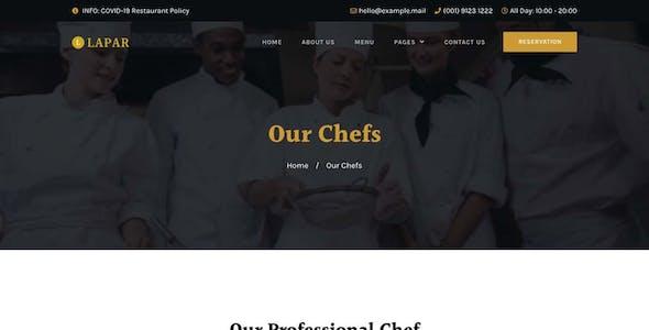Lapar - Restaurant & Cafe Elementor Template Kit