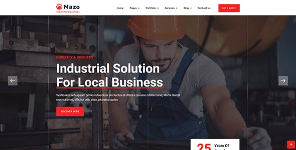 Mazo - Industry WordPress Theme