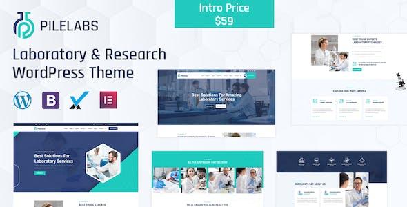 Pilelabs - Laboratory & Research WordPress Theme