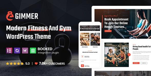 Gimmer - Fitness & Gym, WordPress Theme - Health & Beauty Retail