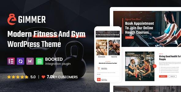 Gimmer - Fitness & Gym, WordPress Theme
