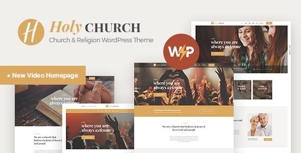 Holy Church   Religion, Charity & Nonprofit WordPress Theme - Churches Nonprofit