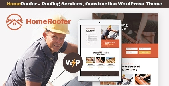 HomeRoofer | Roofing Company Services & Construction WordPress Theme - Business Corporate