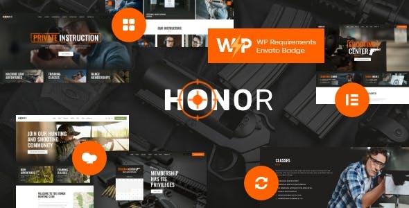 Honor | Multi-Purpose Shooting Club & Weapon Store WordPress Theme + Elementor
