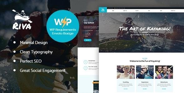Kayaking / Paddling /  Water Sports & Outdoors WordPress Theme - Entertainment WordPress