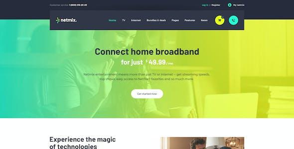 Netmix | Broadband & Telecom Internet Provider  WordPress Theme