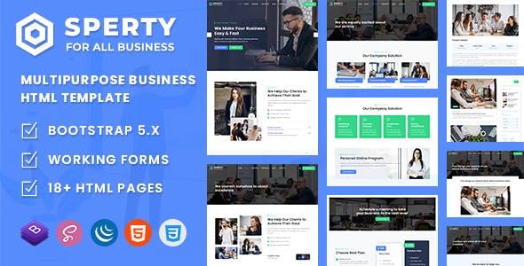 Sperty - Multipurpose Business HTML Template