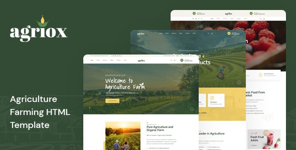 Agriox - Agriculture Farming HTML Template - Food Retail