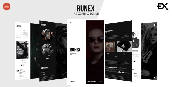 Runex - One Page Portfolio Template - Portfolio Creative
