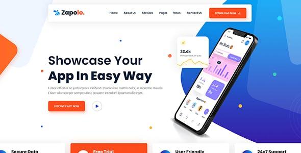 Zapolo | App & Software Bootstrap 5 HTML Template