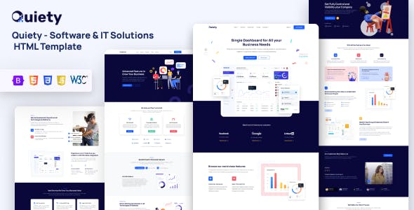 Quiety – Software & IT Solutions HTML Template