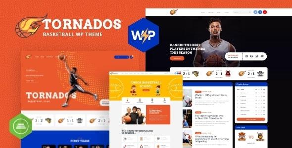 Tornados   Basketball NBA Team WordPress Theme - Entertainment WordPress