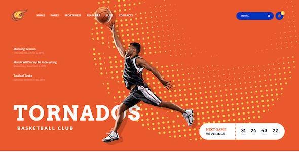 Tornados | Basketball NBA Team WordPress Theme