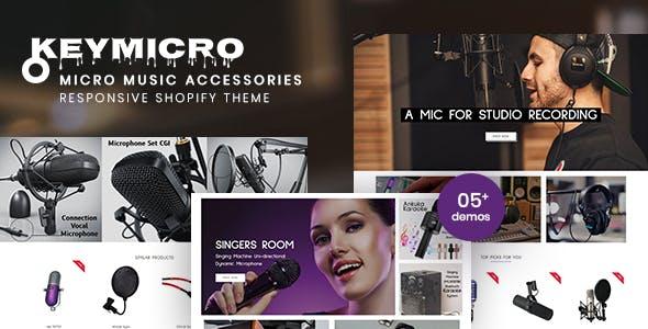 Keymicro - Micro Music Accessories Responsive Shopify Theme