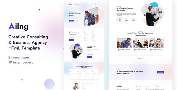 Ailng - Creative Consulting & Business Agency HTML Template - Marketing Corporate