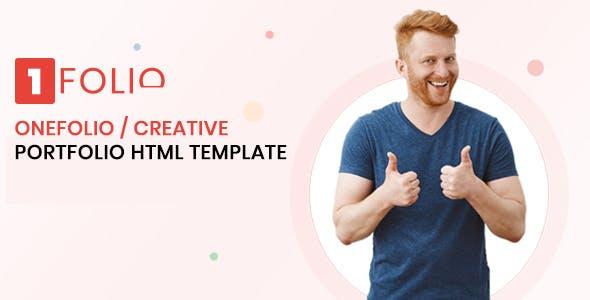 Onefolio - Creative Portfolio HTML Template