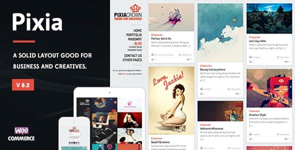 Pixia - Showcase WordPress Theme