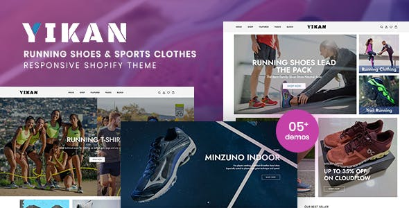 Yikan - Running Shoes & Sports Clothes Shopify Theme
