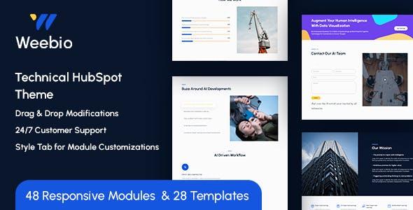 Weebio Technical HubSpot Theme
