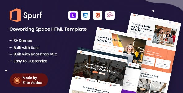 Spurf - Coworking Office Space HTML Template