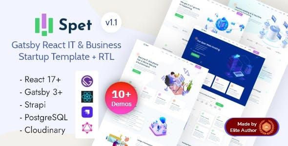 Gatsby React IT & Business Startup - Spet