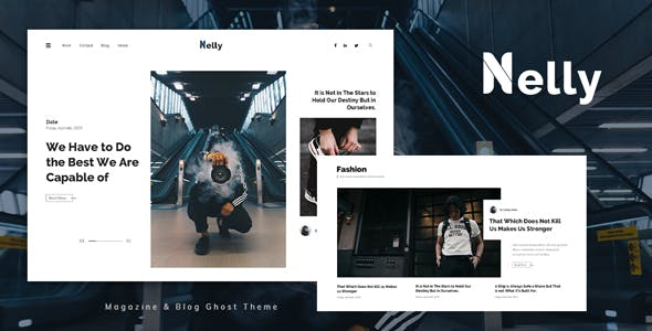 Nelly - Blog and Magazine Ghost Theme