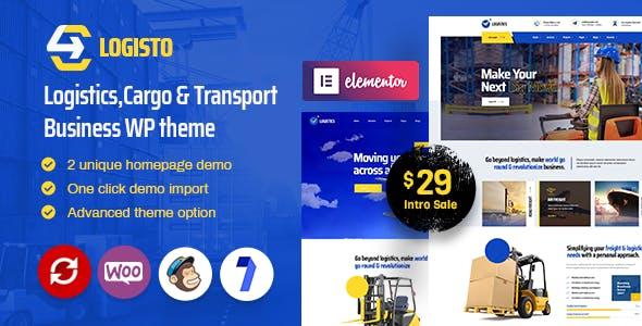 Logisto - Logistic and Cargo WordPress Theme