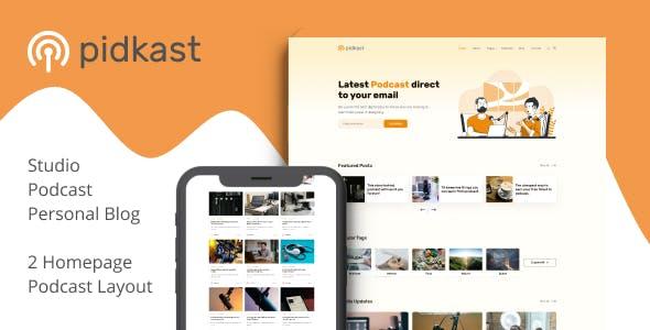 Pidkast - Ghost Multipurpose Blog Theme