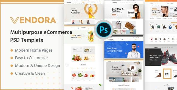 Vendora - Multipurpose eCommerce PSD Template