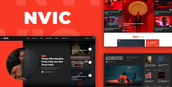 Nvic v1.0 – Blog and Magazine HTML Template