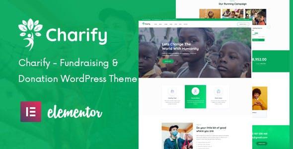 Charify - Fundraising & Donation WordPress Theme