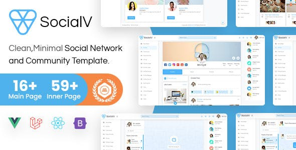 SocialV - Vue 3, React Js, HTML Social Network & Community Bootstrap 5 Admin Template