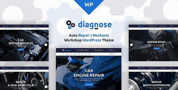 Diagnose - Auto Repair Services WordPress Theme