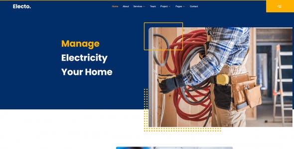 Electo - Electricity Services Elementor Template Kit