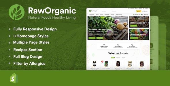 RawOrganic - Organic & Healthy Food Shopify Theme